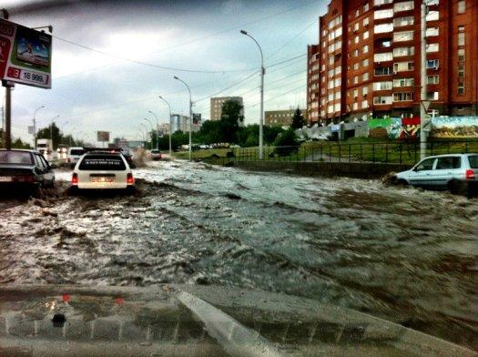 Thunderstorm in Novosibirsk