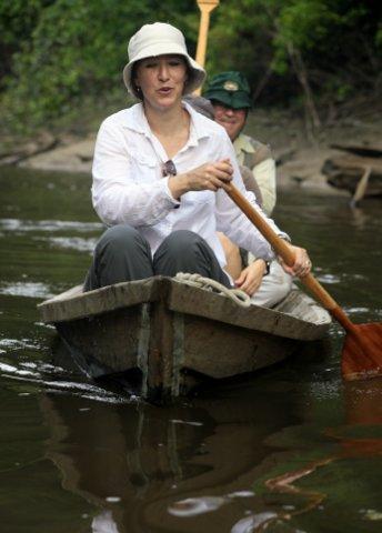 Katherine & Herbert canoeing