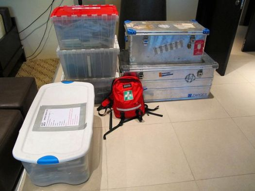 Musandam expedition boxed up and ready to go