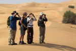 Scanning the dunes in search of oryx