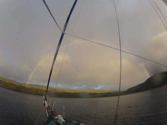 Wet + windy = rainbow