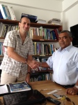 Hussein Zahir, Environmental Director of LaMer (right), with Dr Jean-Luc Solandt, Biosphere Expeditions scientist