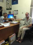 Dr Shiham Adam (left), of MRC, with Dr Jean-Luc Solandt, Biosphere Expeditions scientist