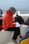 Recording sperm whale data (taken by Craig Turner)