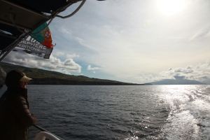 Sailing south of Faial island