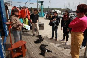 Harbour-side briefing from Lisa (Craig Turner)
