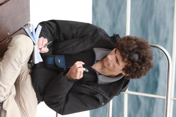 Silvio hard at work recording data (Craig Turner)