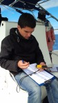 Goncalo (placement student) at work