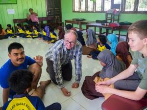 School visit in Tanjung Belit