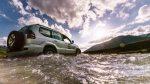 Flussdurchquerung bei der Rückfahrt vom Karakol-Pass