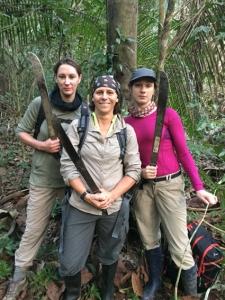 Alison, Sabine, Kat (from left)