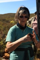 Jane with a cisticola